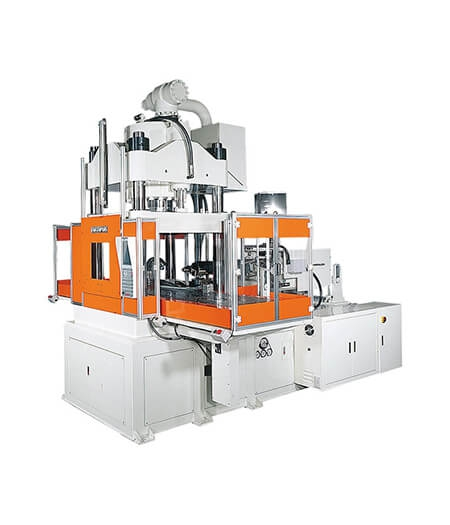 Double Shuttle Table-Vertical Clamping Injection Molding Machine